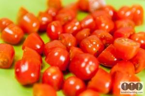 Kais Kitchen Blog Spaghetti mit Tomaten und Knoblauch